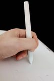 Белая таблетка графиков ручки Стоковое Фото
