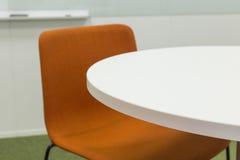 Белая таблица офиса Стоковая Фотография