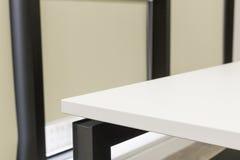Белая таблица угла офиса Стоковая Фотография RF