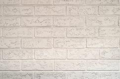 Белая текстура кирпича Стоковое Изображение