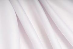 Белая ткань с розовой тенью в створках Стоковые Фотографии RF