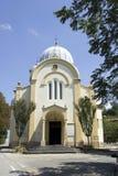 Белая церковь в Bubbio стоковые изображения rf
