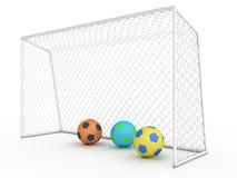 Белая цель #7 футбола Стоковые Фотографии RF