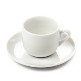 Белая чашка изолированная на белой предпосылке Пустая кофейная чашка над wh Стоковые Фото