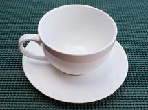 Белая чашка Стоковое Изображение