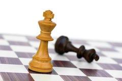 Белая чернота проверки короля шахмат Стоковое фото RF