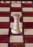 Белая шахматная фигура грачонка Стоковое Фото