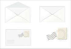 Белая шкала, само-адресованный конверт бесплатная иллюстрация