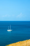 белая яхта Стоковое Фото