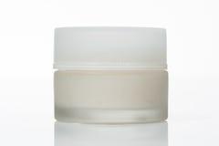 Белая cream бутылка Стоковая Фотография