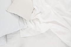 Белая linen ткань Стоковая Фотография