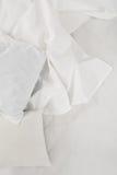 Белая linen ткань Стоковая Фотография RF