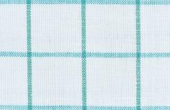 Белая linen checkered предпосылка текстуры Стоковая Фотография RF