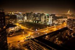 Белград на ноче Стоковые Фото