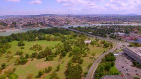 Белград от неба сток-видео