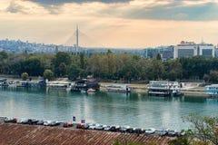 Белград Река Сава Стоковое Фото