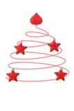 Белизна абстрактной рождественской елки красная Стоковые Изображения