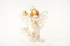 белизна ангела изолированная рождеством Стоковые Фото