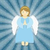 белизна ангела изолированная рождеством Стоковая Фотография RF
