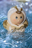 белизна ангела изолированная рождеством Стоковое фото RF