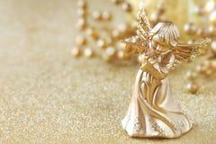 белизна ангела изолированная рождеством Стоковое Изображение