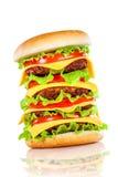 белизна аппетитного гамбургера вкусная Стоковые Фотографии RF