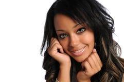 белизна афроамериканца изолированная коммерсанткой Стоковые Фото