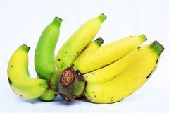 белизна бананов предпосылки изолированная пуком Стоковые Изображения