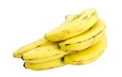 белизна бананов предпосылки изолированная пуком Стоковое Изображение