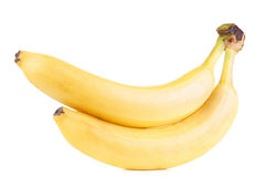 белизна бананов 2 предпосылки Стоковое Изображение RF