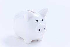 белизна банка piggy Стоковые Фото
