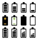 белизна батареи предпосылки изолированная иконой Стоковое Изображение