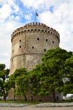 белизна башни thessaloniki стоковая фотография rf
