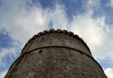 белизна башни thessaloniki Стоковые Фотографии RF
