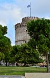 белизна башни thessaloniki Стоковое фото RF