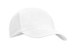 Белизна бейсбольной кепки, на изолированной белой предпосылке Стоковое Фото