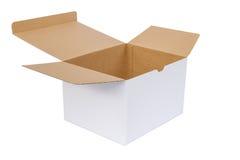 белизна бумаги коробки предпосылки Стоковые Фотографии RF