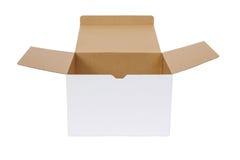 белизна бумаги коробки предпосылки Стоковая Фотография