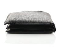 белизна бумажника предпосылки изолированная чернотой кожаная Стоковые Фото