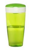 Белизна бутылки геля, пены или жидкостного мыла пластичная. Стоковые Фотографии RF