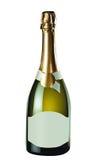 белизна бутылки изолированная шампанским стоковая фотография rf