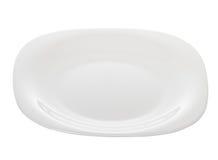 Белизна блюда плиты Стоковое фото RF