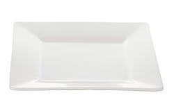 Белизна блюда плиты Стоковая Фотография RF