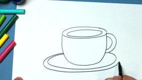 белизна вала карандаша чертежа предпосылки видеоматериал