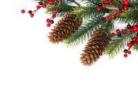 белизна вала рождества изолированная конусом Стоковое фото RF