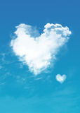 белизна Валентайн сердца облака 3d Стоковая Фотография RF