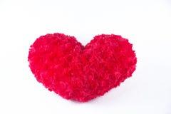 белизна Валентайн сердца предпосылки Стоковое Изображение RF
