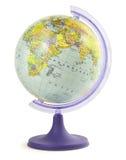 белизна вектора иллюстрации глобуса предпосылки Стоковое Изображение