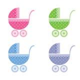 белизна вектора иллюстрации предпосылки младенца дефектная также вектор иллюстрации притяжки corel Стоковое фото RF