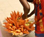 белизна вектора моркови предпосылки изолированная иллюстрацией Стоковые Изображения